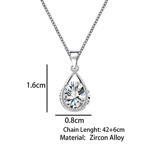 Austrian Crystal Water Drop Necklaces & Pendants -Christmas/Birthday/Anniversary/Valentine's Gift - Gold/Silver Color Collares Maxi Necklaces for Women