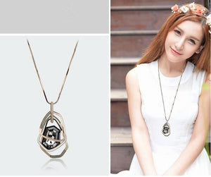 Crystal Women Pendant Necklaces Section - Crystal Long Necklace