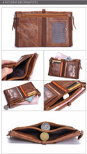 Men's Wallets Designer Leather Purse Crazy Horse Cowhide Gifts Free Shipping - FruitPaunch Gifts