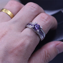 Engagement Ring Purple 5A Zirconia Crystal 925 Sterling Silver Birthstone Size 5 Jewelry - FruitPaunch Gifts