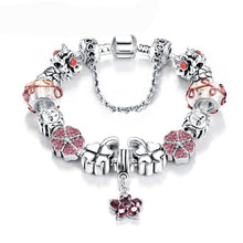 Charm Bracelets w/Beads Antique Silver Plated Crystals Best Craftsmanship Women Jewelry - FruitPaunch Gifts