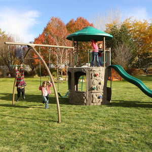 Swing Set Kids Outdoor Backyard Playground Discovery Tower Playset Summer