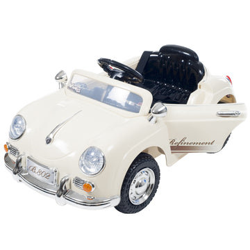 kids toys white sports car battery powered
