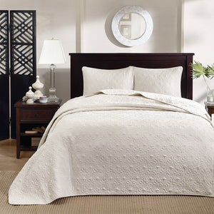 Bedspread Mini Set Oversized 3-piece Madison Park Mansfield - Free Shipping, Modern Bedroom Furnishings