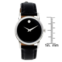 Movado Collection Silvertone Men/Women Stainless Steel Leather Quartz Watch - FruitPaunch Gifts