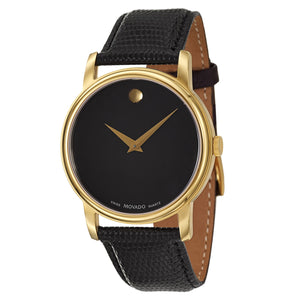 Movado Men's 2100005 'Collection' Yellow Goldplated Swiss Quartz Watch - FruitPaunch Gifts