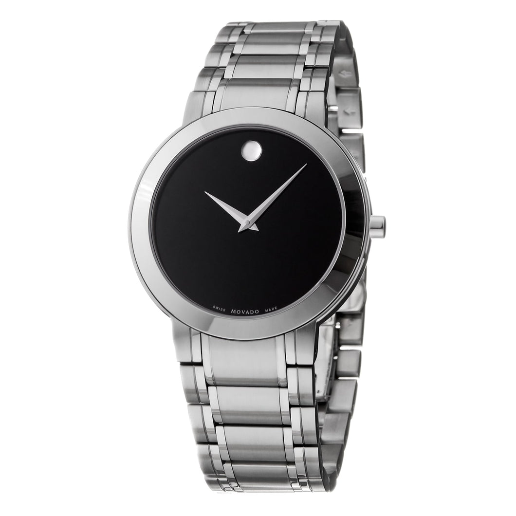 Movado Men's Stiri Black Dial Stainless Steel Watch Sapphire Crystal 606191 - FruitPaunch Gifts