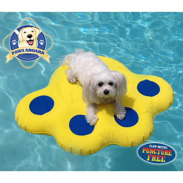 dogs puppies lazy raft swimming sun-proof training