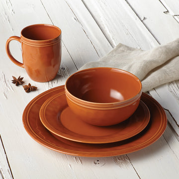 rachael ray dinnerware set bold colors stoneware 16 pieces