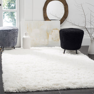 Area Rug Polar White Shag  8' x 10' Safavieh Plush Cozy Carpet Soft True White Home - FruitPaunch Gifts