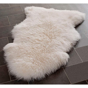 White Area Rug Shag Sheepskin Wool 2' x 3' Silver Orchid Russell Natural Pelt Home - FruitPaunch Gifts