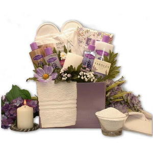 Spa Essentials Lavender Gift Box Mother's Day Gift Basket - FruitPaunch Gifts