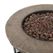Stillwater Outdoor Natural Stone Propane Fire Pit w/Lava Rocks Christopher Knight Home - FruitPaunch Gifts