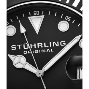 Stuhrling Original Men's Regatta Espora Swiss Quartz Divers Bracelet Watch - silver - FruitPaunch Gifts