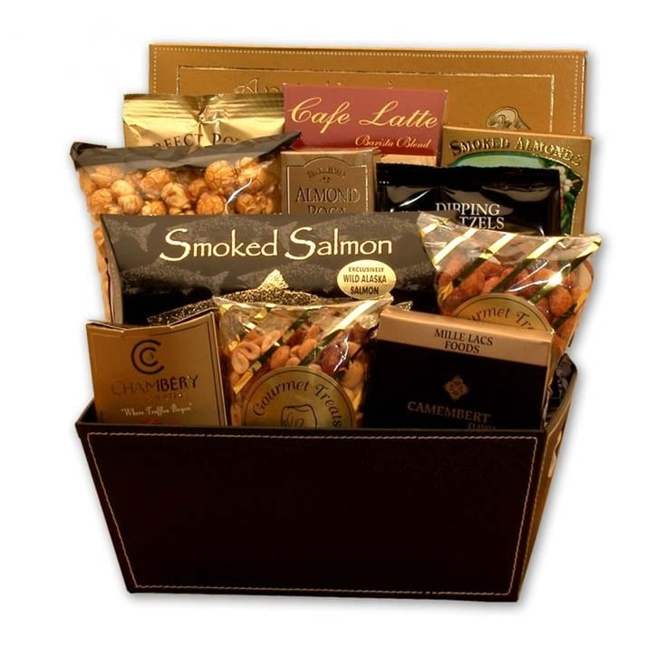 Foodie Gourmet Gift Basket Mother's Day Cookies Nuts Crackers Coffee Cheese - FruitPaunch Gifts