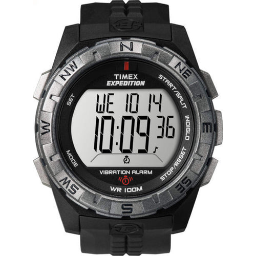 Timex Men's Black Dial Digital Vibration Alarm Watch T49851 Expedition Rugged - FruitPaunch Gifts