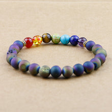 Chakra Beads Bracelet Bangles Natural Stone Onyx Yoga Energy Healing Reiki Meditation Women & Men Gifts Free Shipping