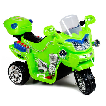 ride on toy green motorcycle kids toys 3 wheel boys gifts