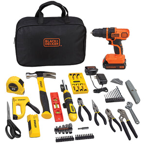Black & Decker & Stanley Tools 79 Pcs BCPKSBD99CWM 20V Home Project Kit - FruitPaunch Gifts