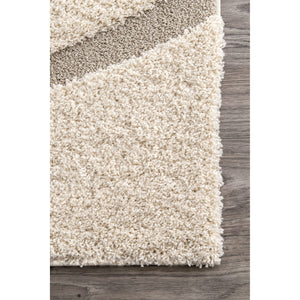 "Area Rug Shag Ivory 4X6, 5'3""X7'6"", 6'7""X9, 8X10 nuLOOM Luxuries Posh Area Carpet Home - FruitPaunch Gifts"