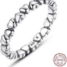 Authentic 925 100% Solid Sterling Silver Forever Love Heart Finger Ring - Original Jewelry -Valentine's/Christmas/Anniversary Gift