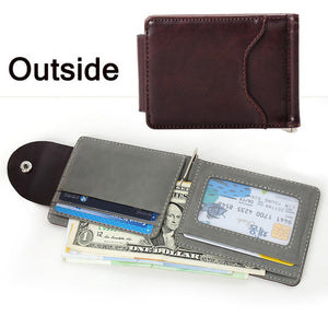 Gray Money Clips High Quality PU Leather & Suede Men Wallets | Great Gifts For Men