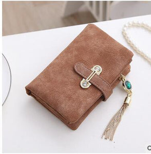 Coffee Hot New Stylish Women Wallets | Female Fashion Long & Small Wallet w/Zipper | Women Short Coin Purse Holders, Retro Wallet and Purses | Many Colors