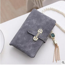 Short Gray Hot New Stylish Women Wallets | Female Fashion Long & Small Wallet w/Zipper | Women Short Coin Purse Holders, Retro Wallet and Purses | Many Colors
