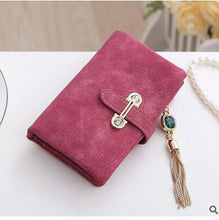 Short Rose Hot New Stylish Women Wallets | Female Fashion Long & Small Wallet w/Zipper | Women Short Coin Purse Holders, Retro Wallet and Purses | Many Colors