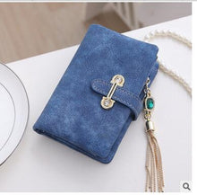 Blue Hot New Stylish Women Wallets | Female Fashion Long & Small Wallet w/Zipper | Women Short Coin Purse Holders, Retro Wallet and Purses | Many Colors