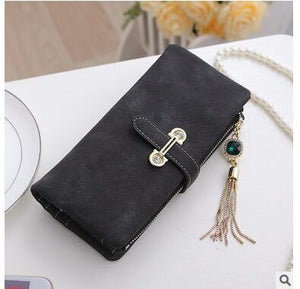 Black Hot New Stylish Women Wallets | Female Fashion Long & Small Wallet w/Zipper | Women Short Coin Purse Holders, Retro Wallet and Purses | Many Colors