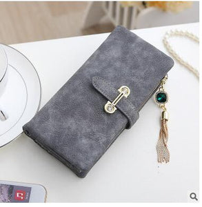 Long Gray Hot New Stylish Women Wallets | Female Fashion Long & Small Wallet w/Zipper | Women Short Coin Purse Holders, Retro Wallet and Purses | Many Colors