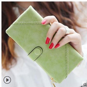 Green Hot New Stylish Women Wallets | Female Fashion Long & Small Wallet w/Zipper | Women Short Coin Purse Holders, Retro Wallet and Purses | Many Colors