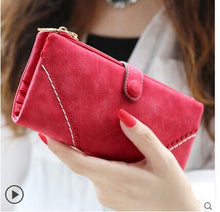 Red Hot New Stylish Women Wallets | Female Fashion Long & Small Wallet w/Zipper | Women Short Coin Purse Holders, Retro Wallet and Purses | Many Colors
