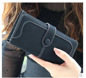 Dark Blue Hot New Stylish Women Wallets | Female Fashion Long & Small Wallet w/Zipper | Women Short Coin Purse Holders, Retro Wallet and Purses | Many Colors