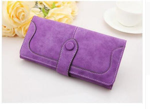 Purple Hot New Stylish Women Wallets | Female Fashion Long & Small Wallet w/Zipper | Women Short Coin Purse Holders, Retro Wallet and Purses | Many Colors