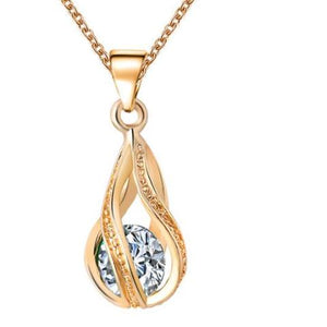 Austrian Crystal Water Drop Necklace & Pendant- Gold & Silver Color - Maxi Necklaces for Women Gift Collars