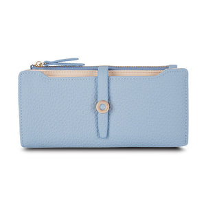 Blue Top Quality Latest Lovely Leather Long Women Wallet Fashion Girls | Gorgeous Colors, Very Spacious Purses For Girls & Women