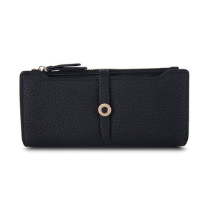 Black Top Quality Latest Lovely Leather Long Women Wallet Fashion Girls | Gorgeous Colors, Very Spacious Purses For Girls & Women