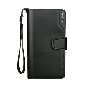Men Wallets Leather Luxury, Long Men's Designer Wallet, Money Clip Wallet Leather Zipper Wallet, Great Men's Gifts