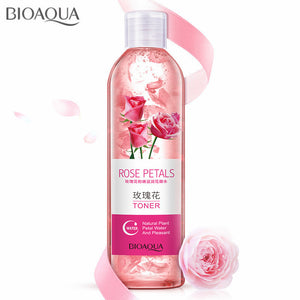 Rose Petals Essence Water Face Toner - Shrink Pores, Anti-Aging, Deeply Hydrating, Moisturizing, Oil Control Skin Care Toner - 250ml