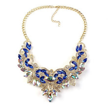 Colorful Crystal Women Maxi Statement Necklaces & Pendants - Vintage Turkish Jewelry Necklace