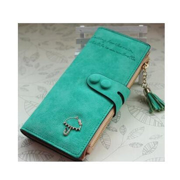 fashion stylish designer wallet women leather many colors gifts