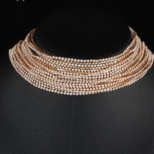 Choker Necklace Rhinestone Crystal Multiple layers Women Statement Necklaces Jewelry - FruitPaunch Gifts