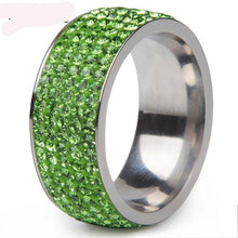 Engagement Rings Rhinestone, Crystal Stainless Steel Women Size 6-10 Jewelry - FruitPaunch Gifts