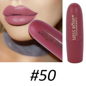 Dark Pink Lipstick Waterproof In 10 Beautiful Red & Brown Colors - Long-Lasting Matte Finish