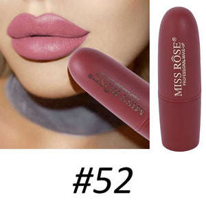 Lipstick Waterproof In 10 Beautiful Red & Brown Colors #52 - Long-Lasting Matte Finish