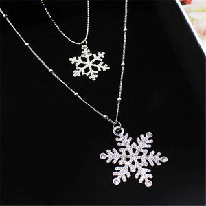 Black Rose Pendant Necklace Women Crystal Flower Sweater Long Chain Jewelry - FruitPaunch Gifts