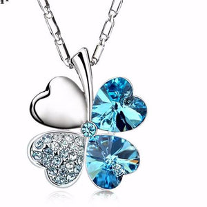 2017 Clover-Heart Crystal Charm Pendant Necklaces - Fine Jewelry -Statement Necklaces For Women Best Friend