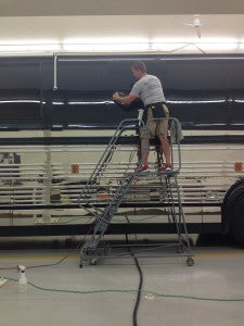 I couldn't work on this 45' Prevost Motor Coach without it!